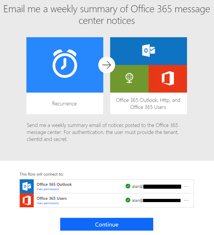 Call Office 365 Service Communications API and Return New