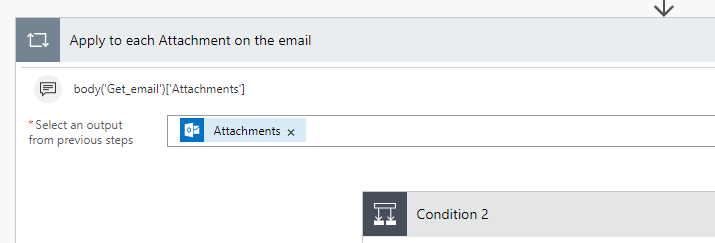 Flow: Excel Formats Only | Save New Email Attachments to