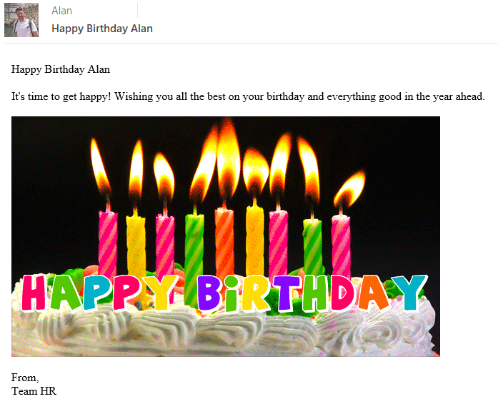 Superb Flow Send A Happy Birthday Email Message To Everyone In Your Personalised Birthday Cards Bromeletsinfo